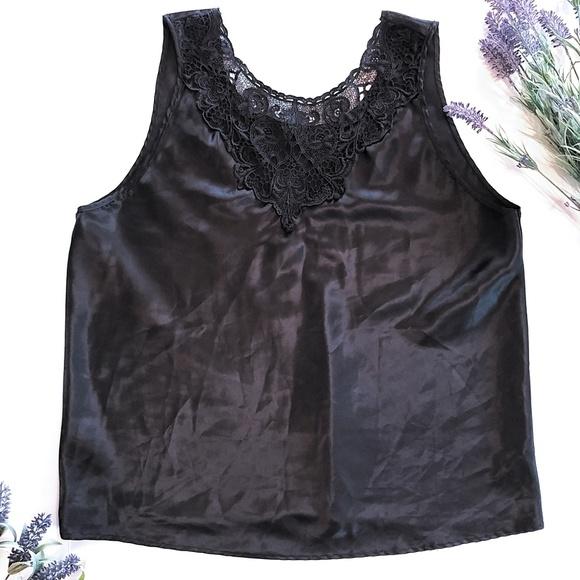 Cinema Tops - Cinema Etoile Black Tank Camisole Size 1X Plus